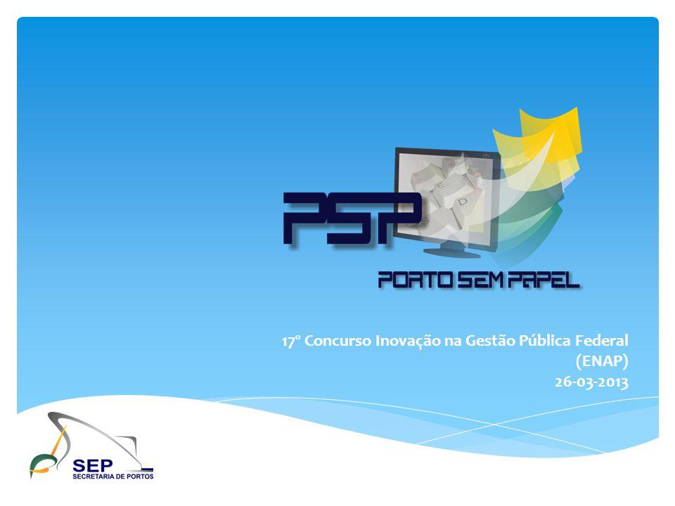 Porto Sem Papel: racionalizando informações DUV Documento Único Virtual 112 documentos 935 informações 1 documento digital