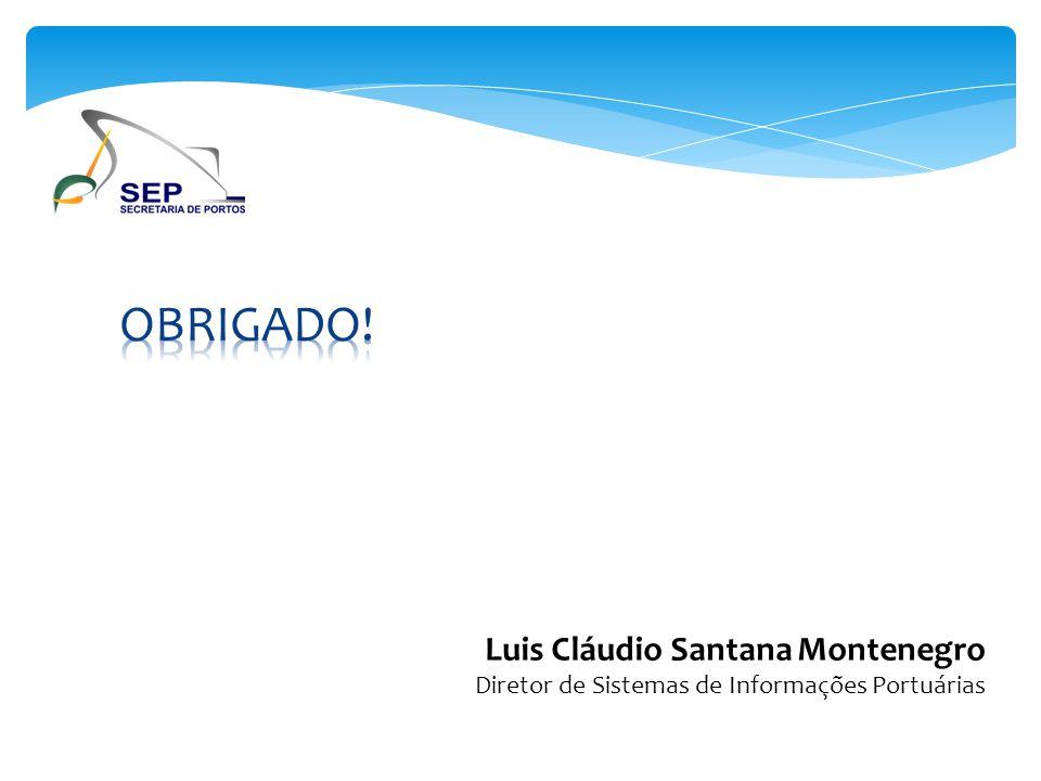 Luis Cláudio Santana Montenegro Diretor de Sistemas de Informações Portuárias