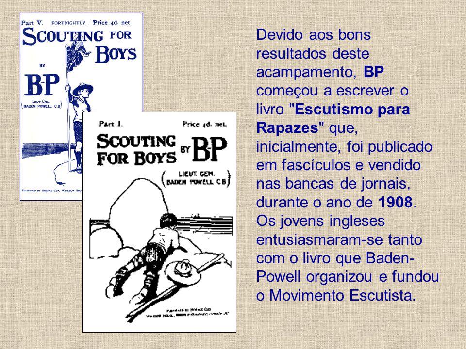 Devido aos bons resultados deste acampamento, BP começou a escrever o livro
