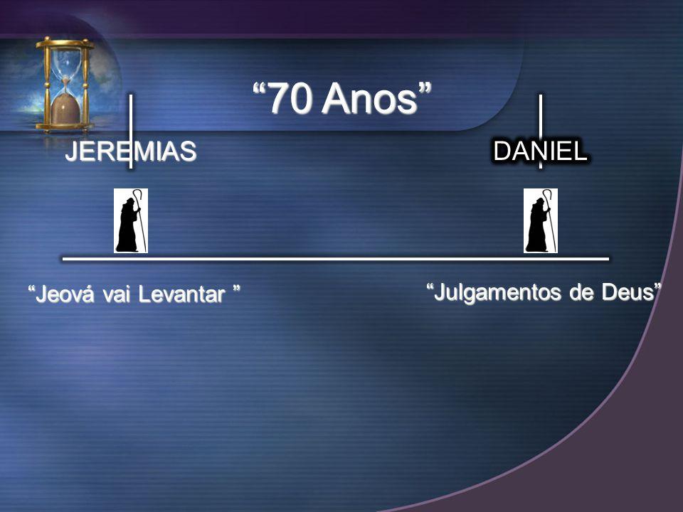 JEREMIAS Jeová vai Levantar Jeová vai Levantar 70 Anos Julgamentos de Deus
