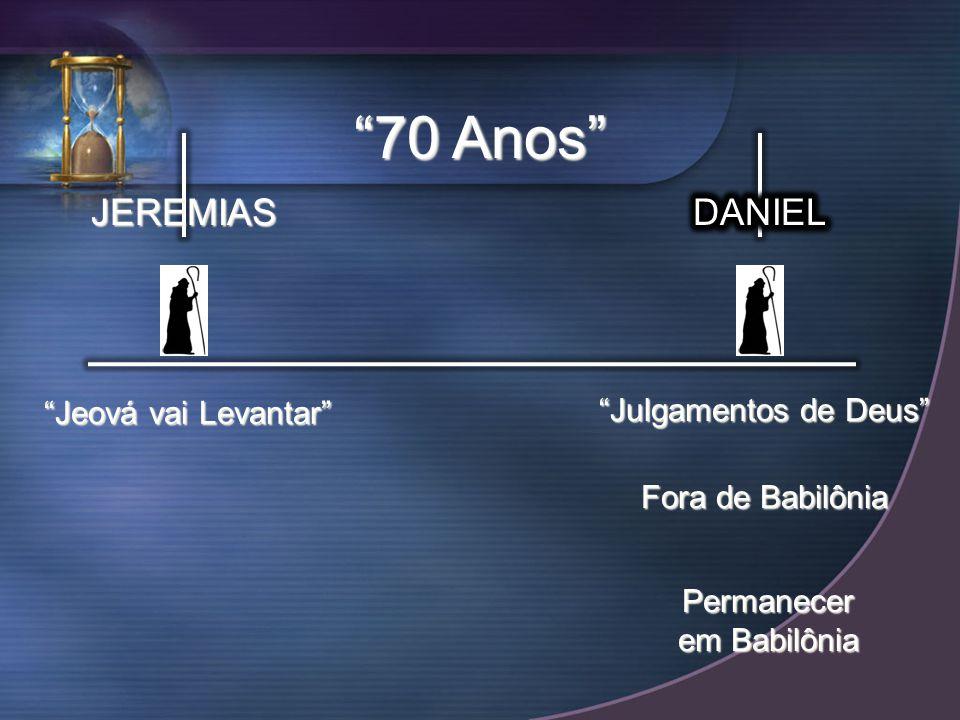 JEREMIAS Jeová vai Levantar 70 Anos Julgamentos de Deus Fora de Babilônia Permanecer em Babilônia