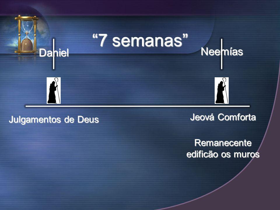 Daniel Neemías 7 semanas Julgamentos de Deus Jeová Comforta Remanecente edificão os muros