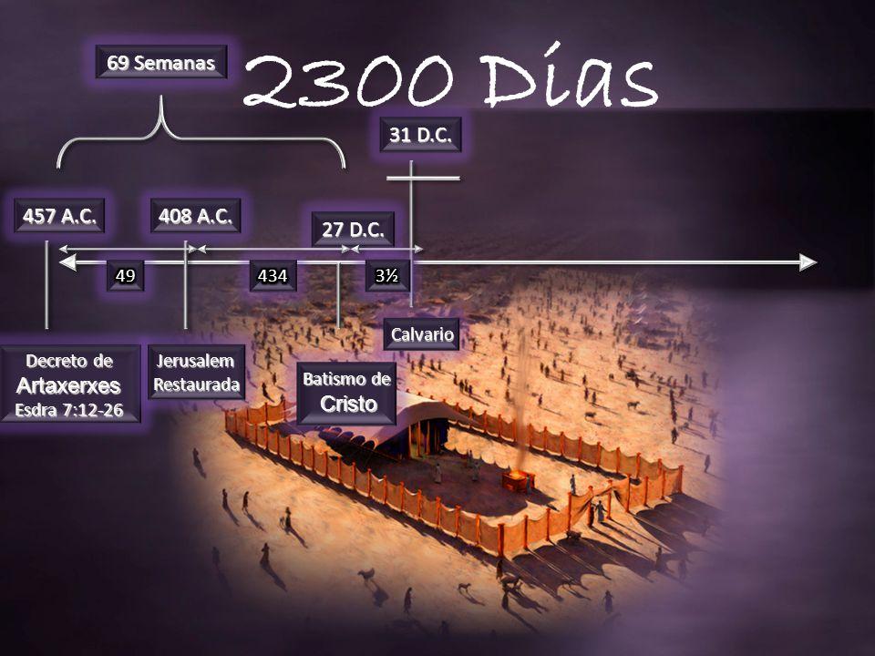 457 A.C.Decreto de Artaxerxes Esdra 7:12-26 408 A.C.