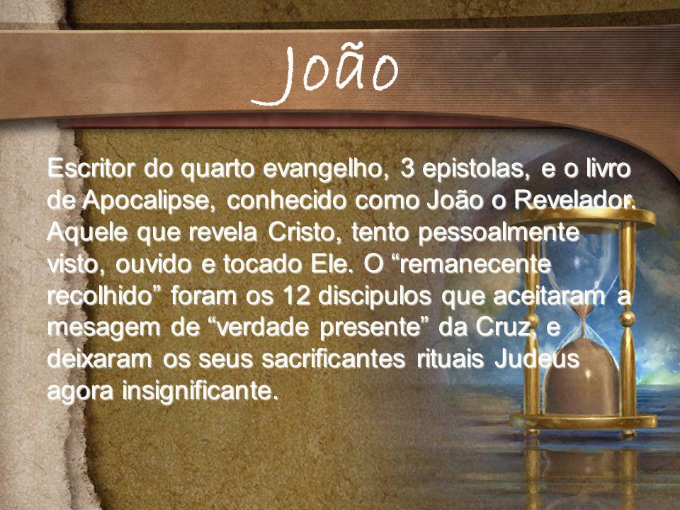 Escritor do quarto evangelho, 3 epistolas, e o livro de Apocalipse, conhecido como João o Revelador.