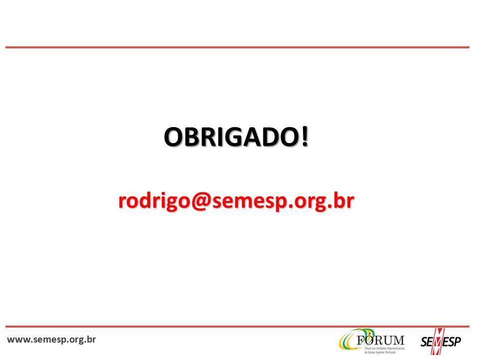 www.semesp.org.br OBRIGADO! rodrigo@semesp.org.br