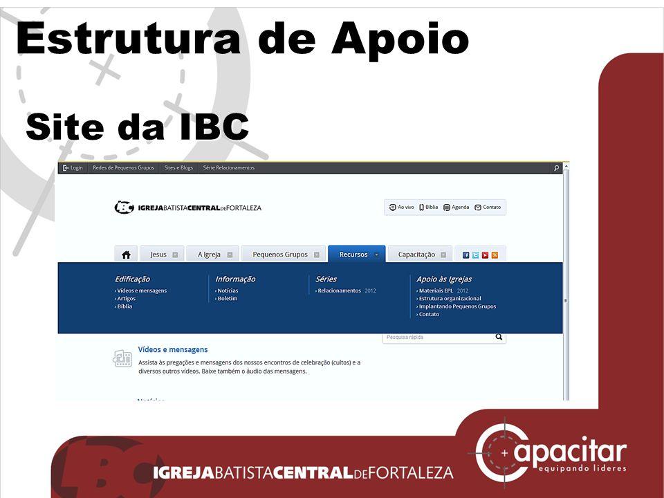 Estrutura de Apoio Site da IBC