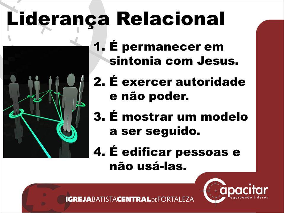 Liderança Relacional 5.É executar tarefas enquanto se constroem relacionamentos.