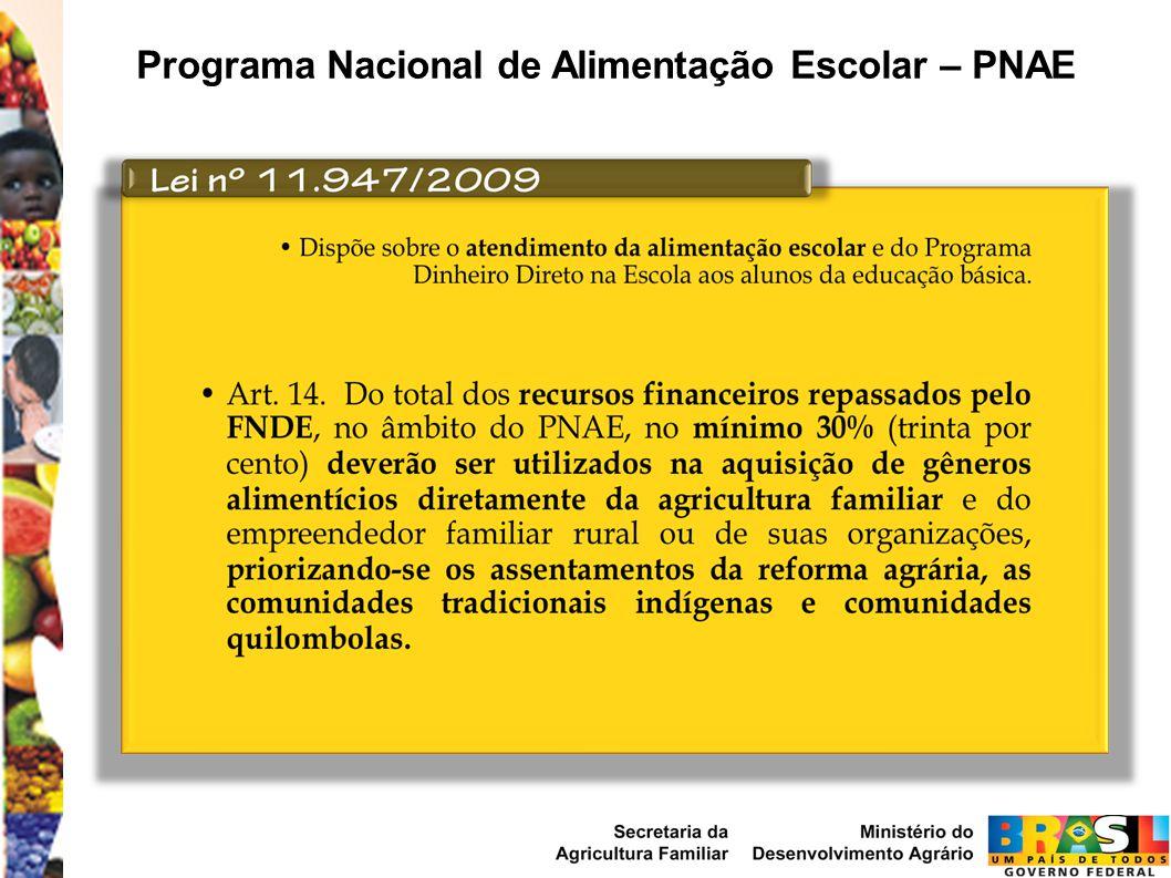 Programa Nacional de Alimentação Escolar – PNAE