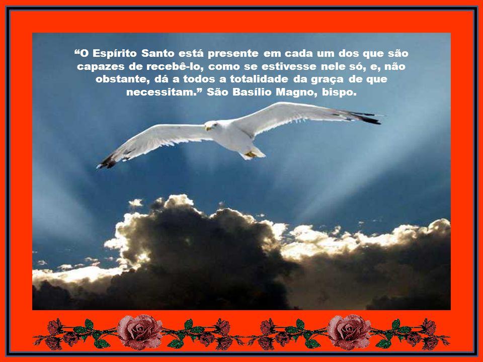 O Espírito Santo está presente em cada um dos que são capazes de recebê-lo, como se estivesse nele só, e, não obstante, dá a todos a totalidade da graça de que necessitam.