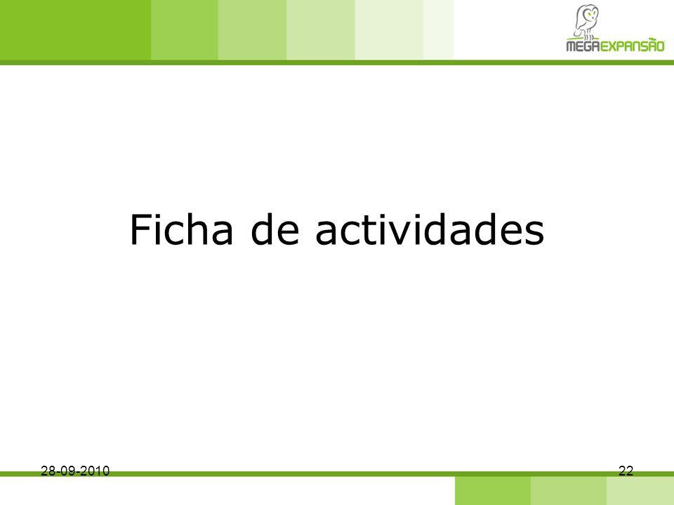 Ficha de actividades 28-09-201022