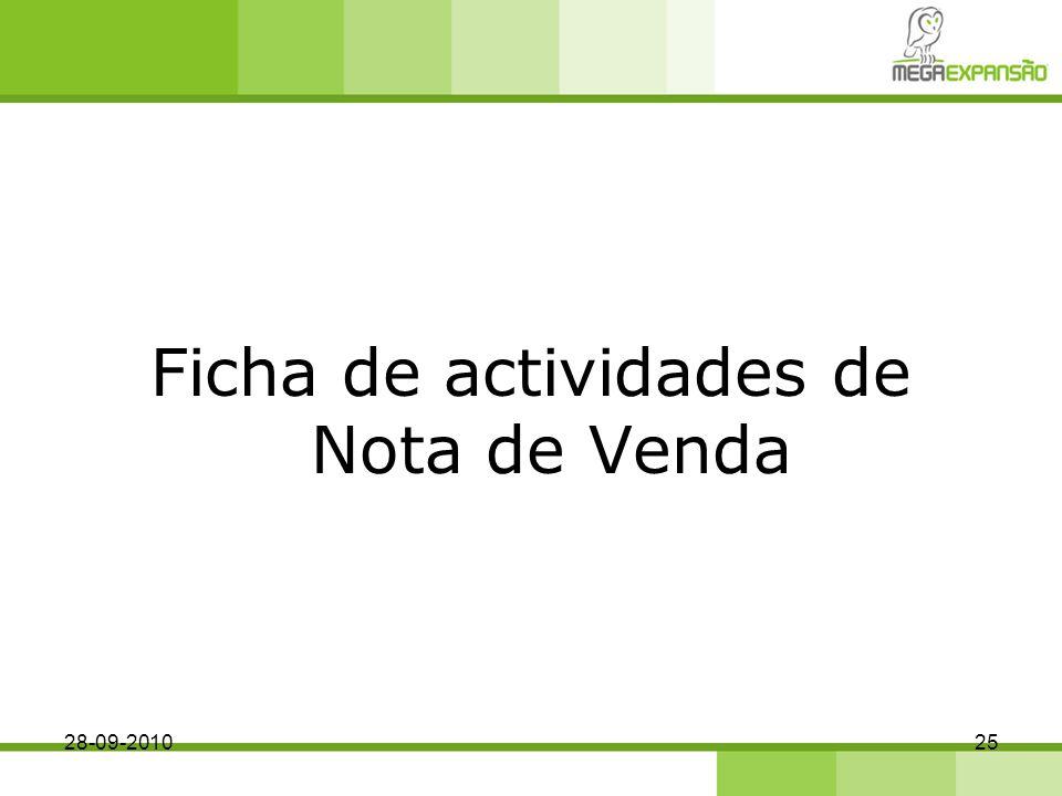 Ficha de actividades de Nota de Venda 28-09-201025