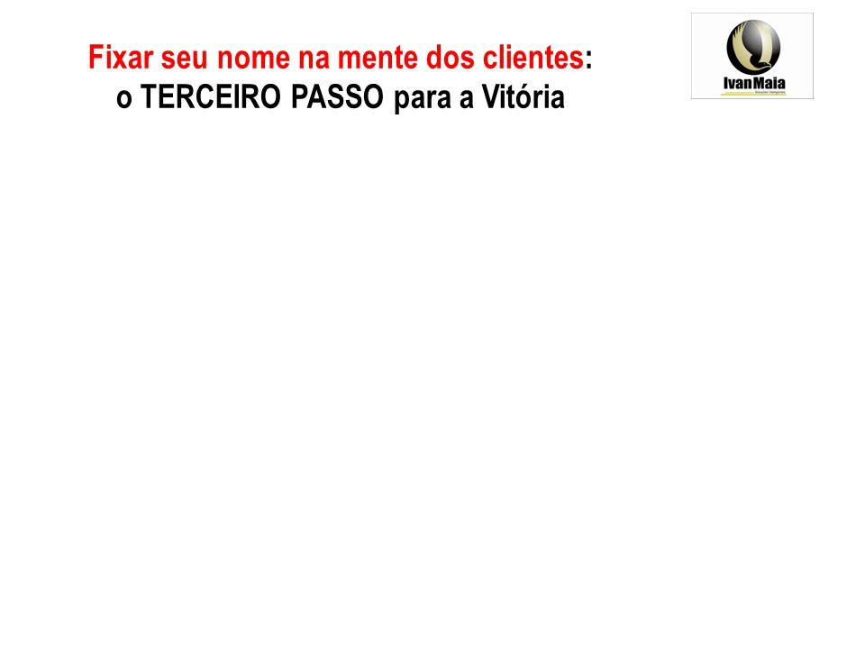 Fixar seu nome na mente dos clientes: o TERCEIRO PASSO para a Vitória