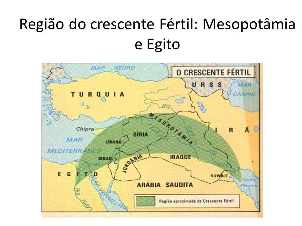 Região do crescente Fértil: Mesopotâmia e Egito