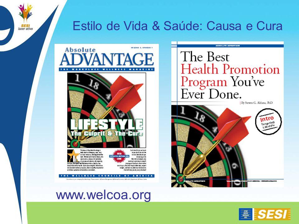 www.welcoa.org Estilo de Vida & Saúde: Causa e Cura