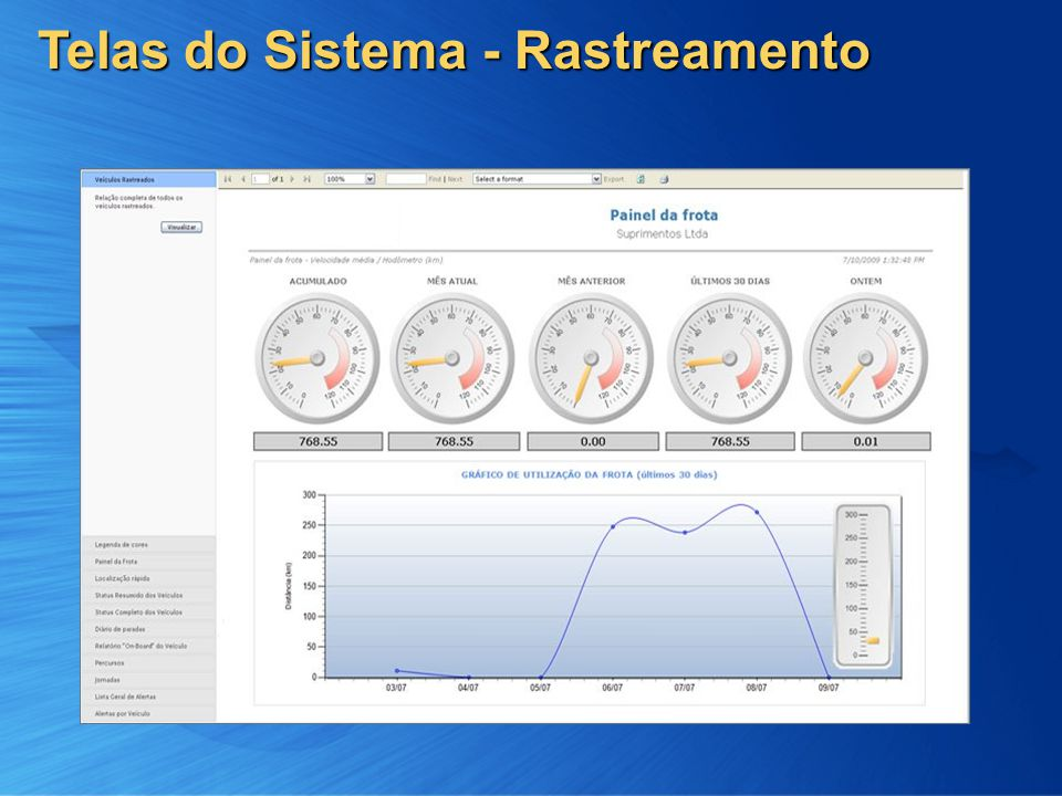 10 Telas do Sistema - Rastreamento