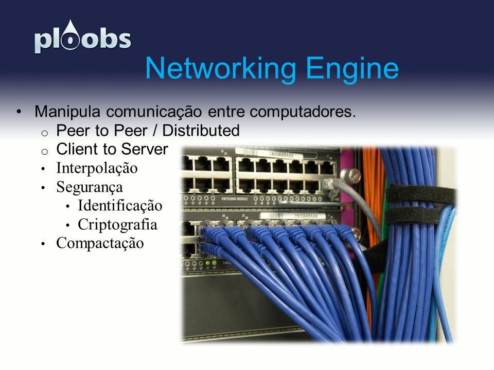 Page 11 Networking Engine Manipula comunicação entre computadores. o Peer to Peer / Distributed o Client to Server Interpolação Segurança Identificaçã