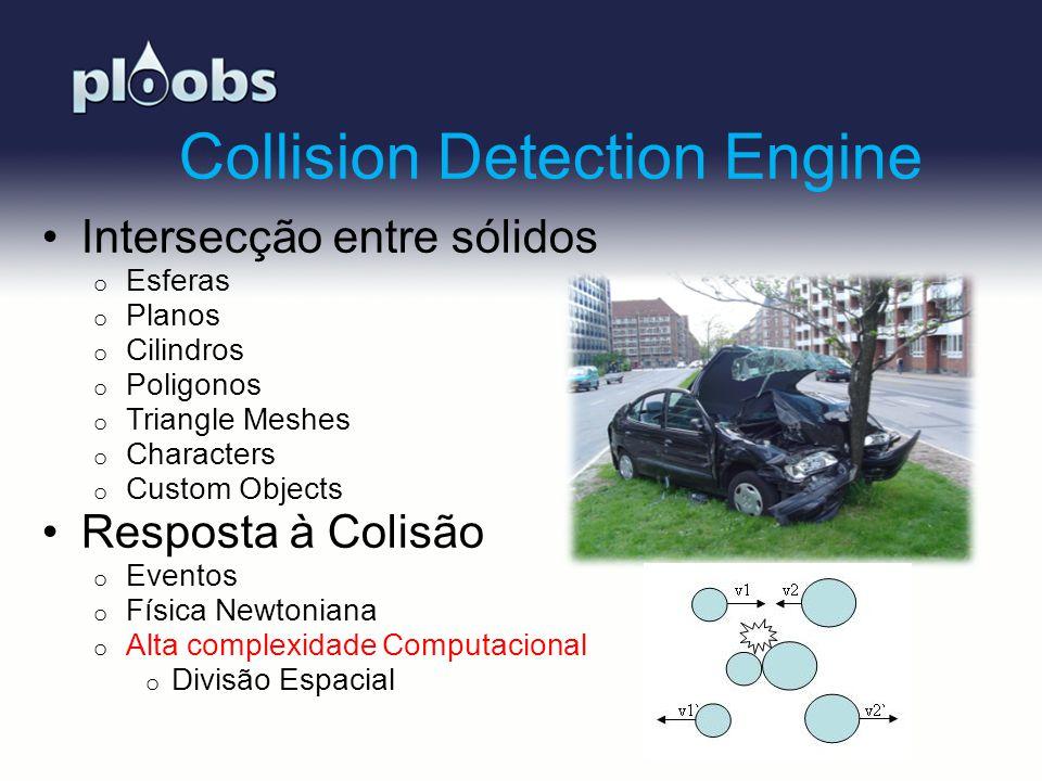 Page 6 Collision Detection Engine Intersecção entre sólidos o Esferas o Planos o Cilindros o Poligonos o Triangle Meshes o Characters o Custom Objects