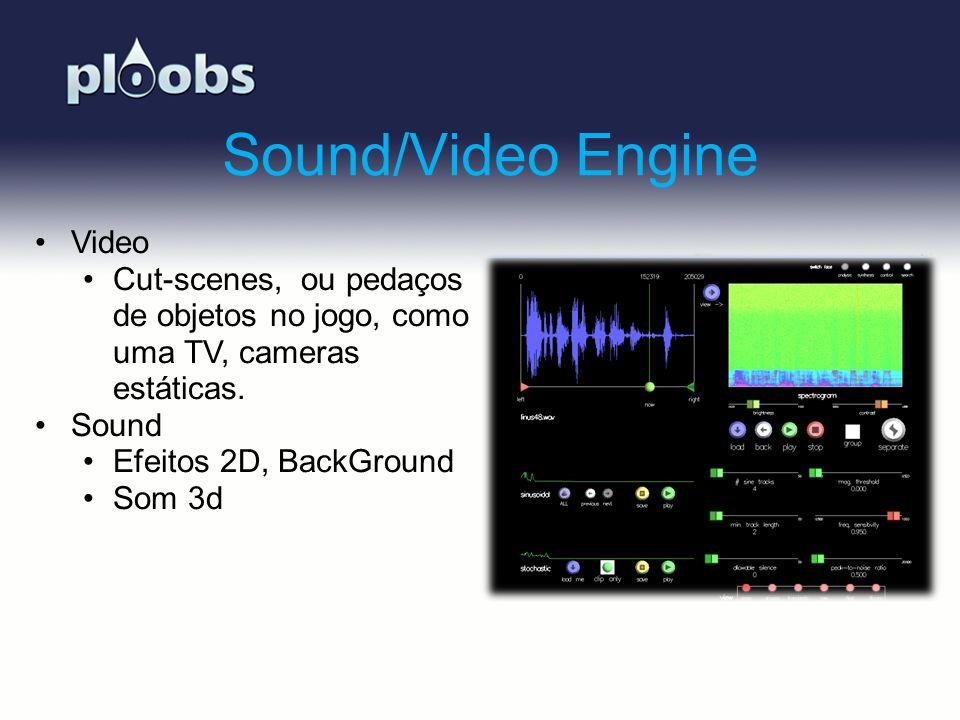 Page 9 Sound/Video Engine Video Cut-scenes, ou pedaços de objetos no jogo, como uma TV, cameras estáticas. Sound Efeitos 2D, BackGround Som 3d