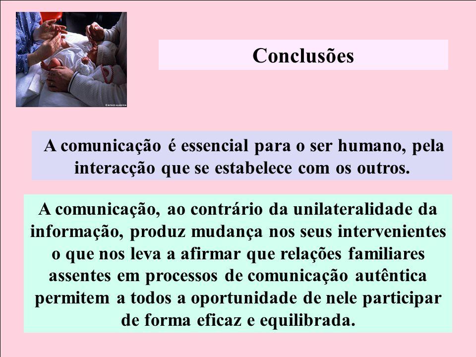 A comunicação, ao contrário da unilateralidade da informação, produz mudança nos seus intervenientes o que nos leva a afirmar que relações familiares