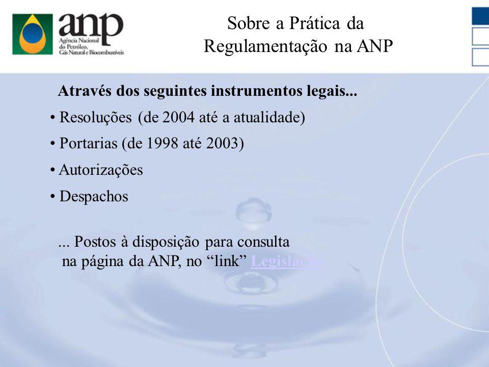 Resoluções (de 2004 até a atualidade) Portarias (de 1998 até 2003) Autorizações Despachos Através dos seguintes instrumentos legais...... Postos à dis