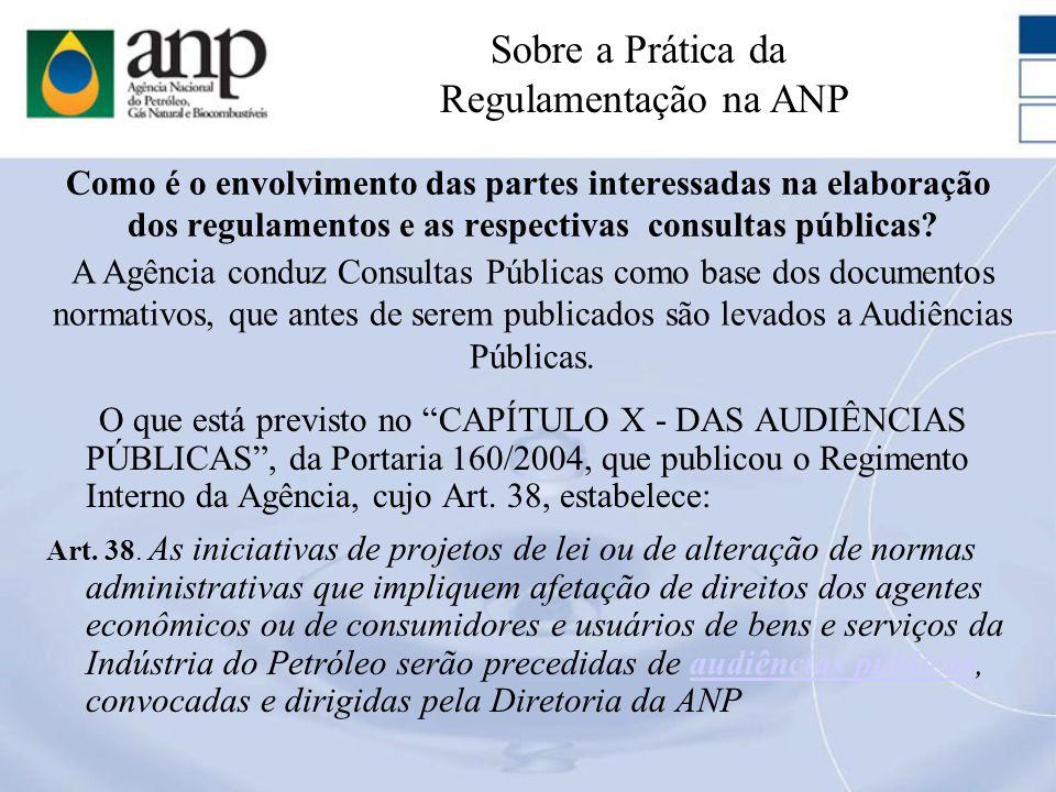 Como é o envolvimento das partes interessadas na elaboração dos regulamentos e as respectivas consultas públicas? O que está previsto no CAPÍTULO X -