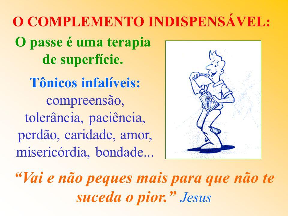 AS DUAS CONDIÇÕES BÁSICAS: * CAPACIDADE DO PASSISTA * RECEPTIVIDADE DO PACIENTE A tua fé te salvou! Jesus