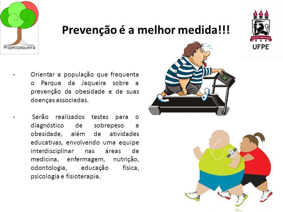 -Orientar a população que frequenta o Parque da Jaqueira sobre a prevenção da obesidade e de suas doenças associadas.