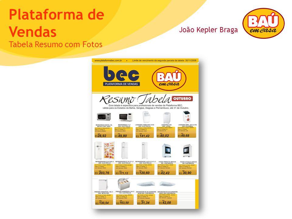 João Kepler Braga Plataforma de Vendas Tabela Resumo com Fotos
