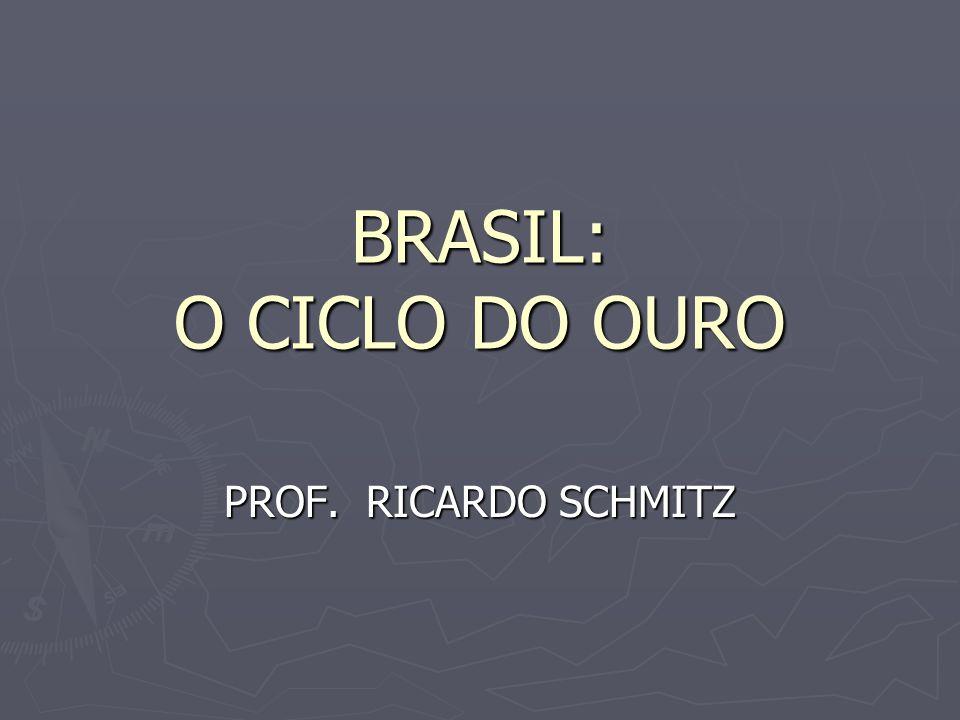 BRASIL: O CICLO DO OURO PROF. RICARDO SCHMITZ
