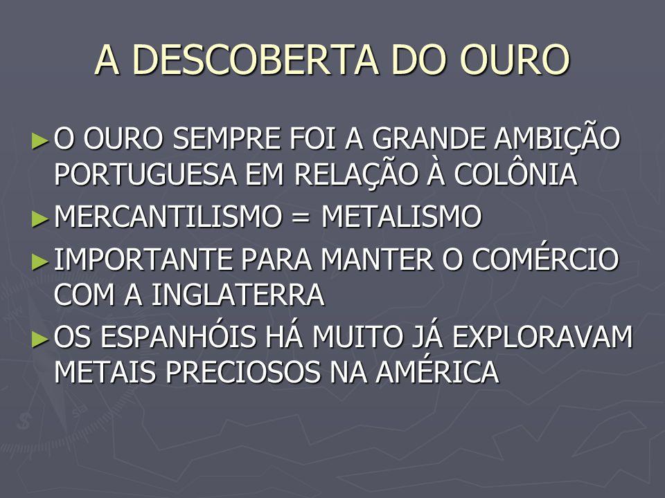 A DERRAMA CRIADA PARA COBRAR IMPOSTOS ATRASA- DOS CRIADA PARA COBRAR IMPOSTOS ATRASA- DOS ERA A OBRIGAÇÃO DE ARRECADAR AO MENOS 100 ARROBAS DE OURO (1.500 KG) ERA A OBRIGAÇÃO DE ARRECADAR AO MENOS 100 ARROBAS DE OURO (1.500 KG) ERAM CONFISCADOS OURO E OUTROS BENS ATÉ SE CHEGAR A QUANTIA DETER- MINADA ERAM CONFISCADOS OURO E OUTROS BENS ATÉ SE CHEGAR A QUANTIA DETER- MINADA OCASIONOU MUITA REVOLTA ENTRE OS COLONOS OCASIONOU MUITA REVOLTA ENTRE OS COLONOS
