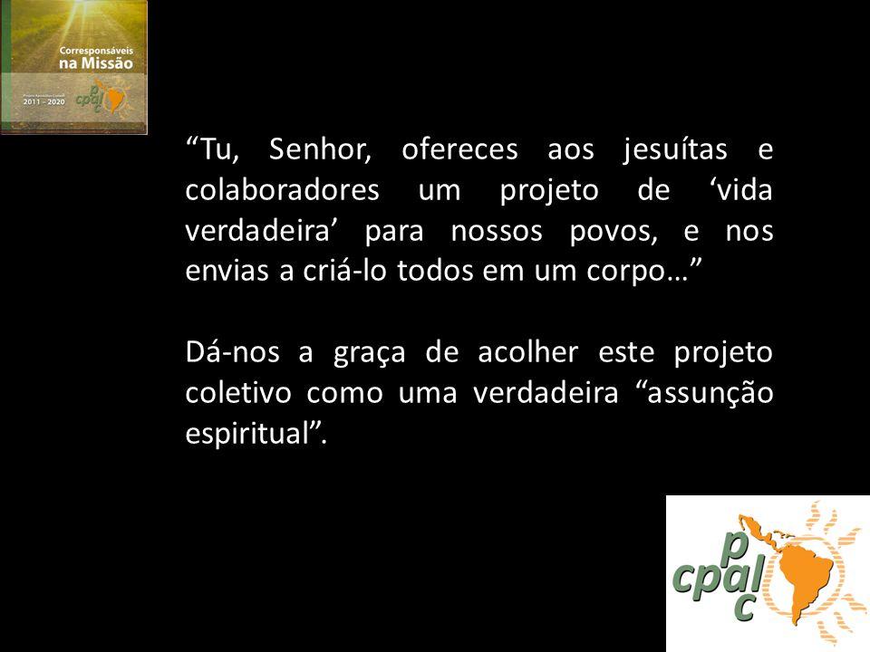 Prioridade #2 Projeto Apostólico Comum (PAC) 2011-2020 Fomentar líderes Compreender sua realidade Promover sua formação integral… sua opção de vida… seu compromisso como servidores da transformação social… e a revitalização eclesial.