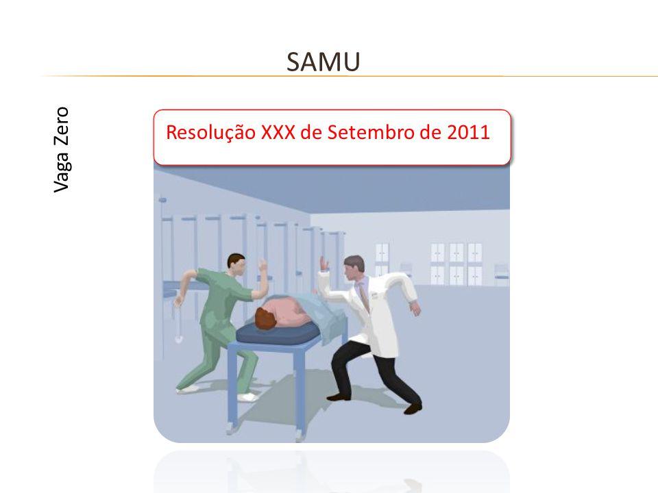 SAMU Vaga Zero Resolução XXX de Setembro de 2011