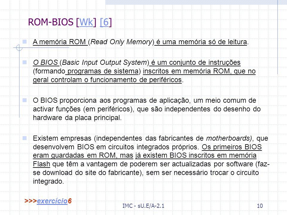 IMC - sU.E/A-2.19 IRQ(Interrupt ReQuest) – Interrupções [Wk] [5]Wk[5 Os IRQ não são mais que circuitos que ajudam o processador a lidar com informação