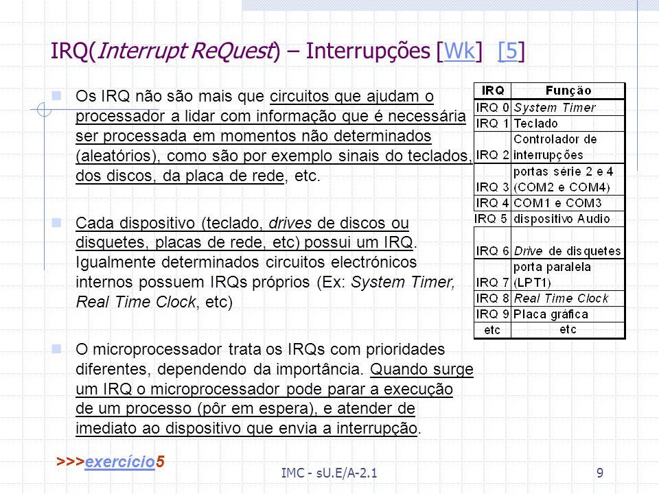 IMC - sU.E/A-2.18 Memória Cache [Wk] [4]Wk[4 O microprocessador é muito mais rápido que a memória RAM. Isso faz com que fique sub-utilizado quando nec