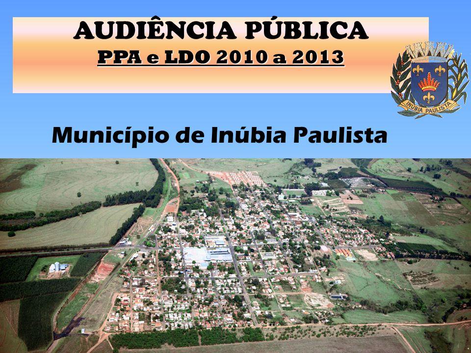 1 AUDIÊNCIA PÚBLICA PPA e LDO 2010 a 2013 Município de Inúbia Paulista