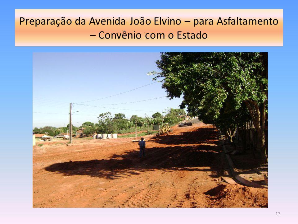 Preparação da Avenida João Elvino – para Asfaltamento – Convênio com o Estado 17