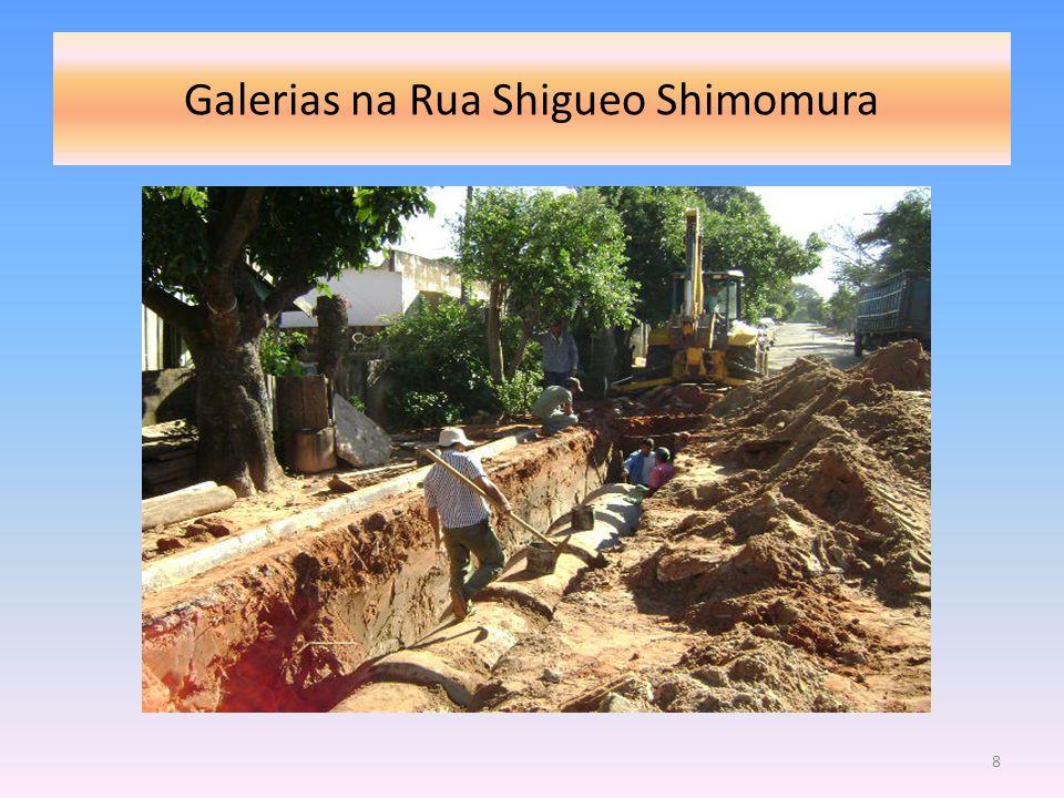 Continuação das Galerias : entre a Rua Shigueo Shimomura, parte da da Av.