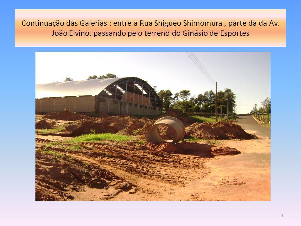 Continuação das Galerias : entre a Rua Shigueo Shimomura, parte da da Av. João Elvino, passando pelo terreno do Ginásio de Esportes 9