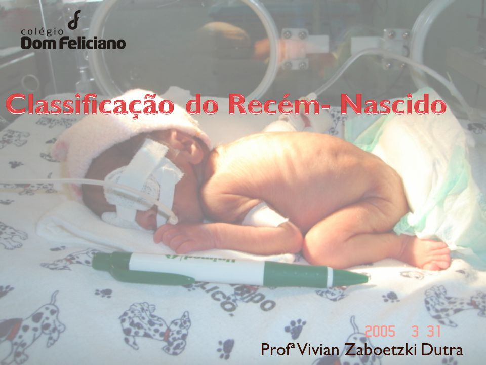 Considerando as características da fase perinatal e neonatal, é necessário estabelecer a classificação de cada recém- nascido (RN), uma vez que estes apresentam diversidade na sua fisiologia representando diferença na conduta a ser tomada com cada um deles.