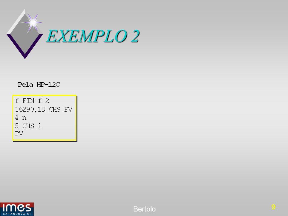 10 Bertolo EXEMPLO 3 Calcular o valor do desconto bancário composto de um título de R$ 20.000,00, 1 ano antes do vencimento à taxa de 5% ao trimestre, capitalizável trimestralmente.