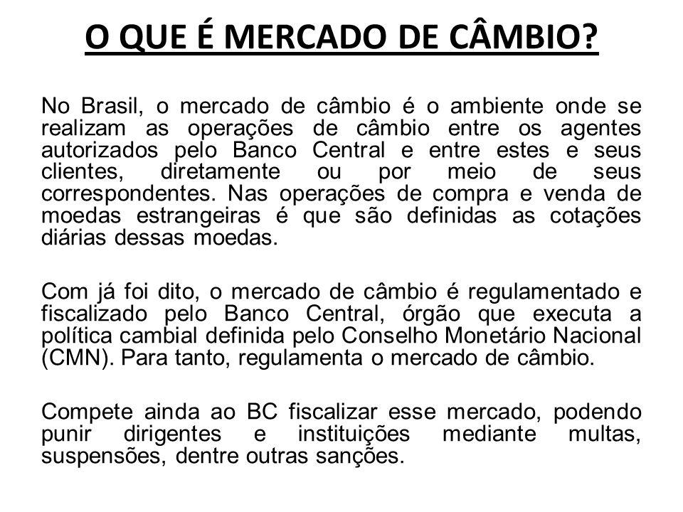 O QUE É MERCADO DE CÂMBIO.