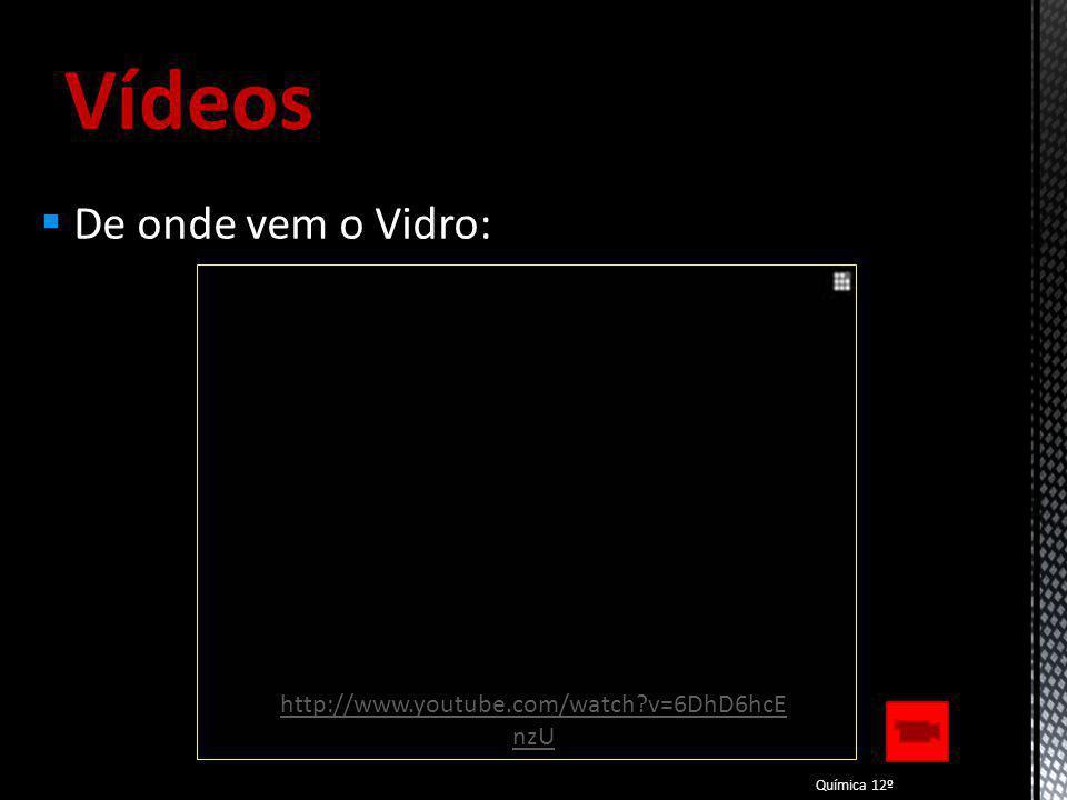 Vídeos A arte de transformar o Vidro: Química 12º http://www.youtube.com/watch?v=b1REaK3W qaI&feature=related