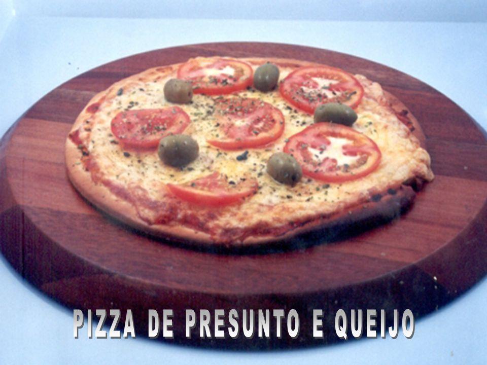 PIZZA DE PRESUNTO E QUEIJO
