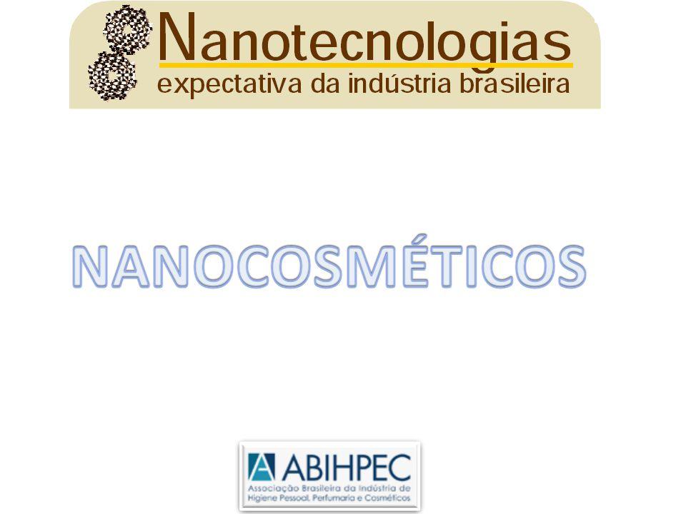 [µm] 0,001 0,01 Branco azulado Translúcio Transparente Branco opaco Macro emulsão Nanoemulsion Solução miscelar Solução molecular 50 10 5 1 0,5 0,2 2 0,1 Fonte: skincareforum.com [nm] Nanotecnologia