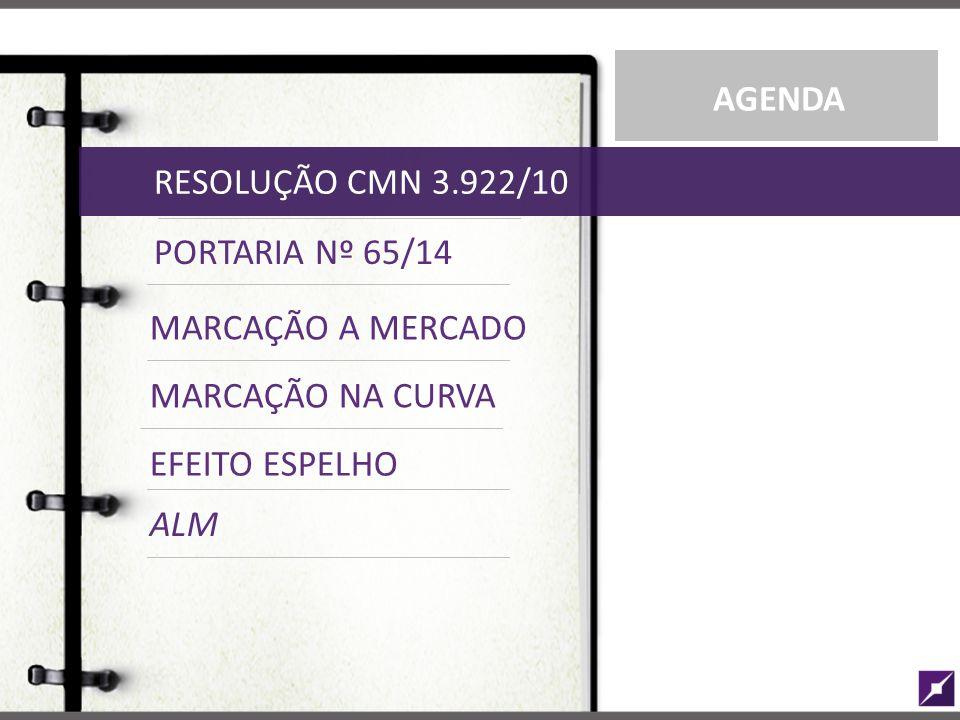 PORTARIA Nº 65/14 RESOLUÇÃO CMN 3.922/10 MARCAÇÃO NA CURVA AGENDA MARCAÇÃO A MERCADO EFEITO ESPELHO ALM