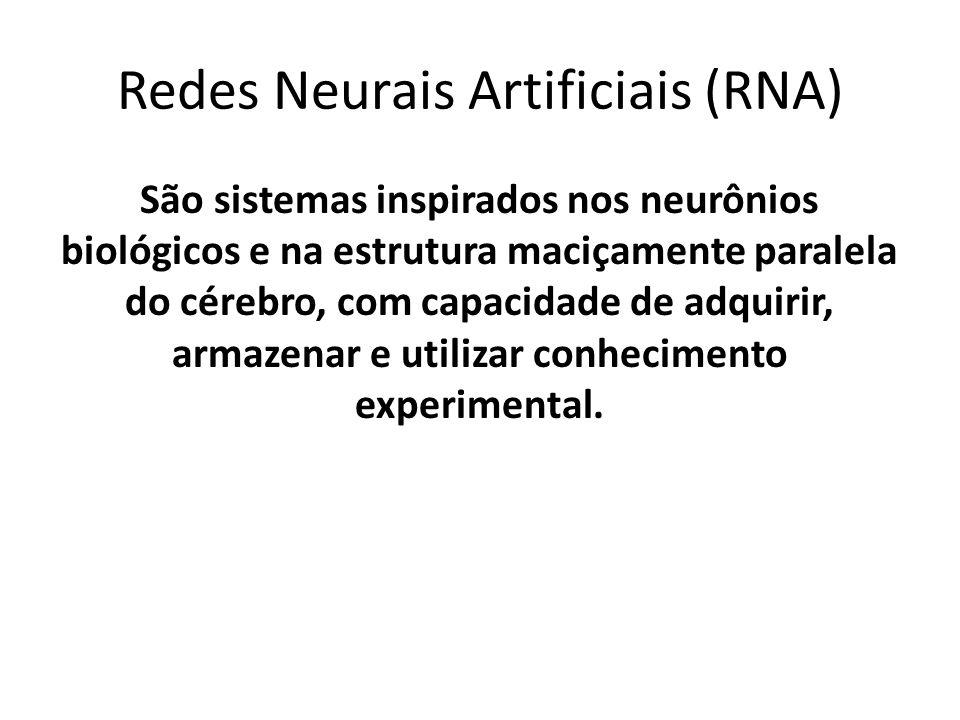 São sistemas inspirados nos neurônios biológicos e na estrutura maciçamente paralela do cérebro, com capacidade de adquirir, armazenar e utilizar conh