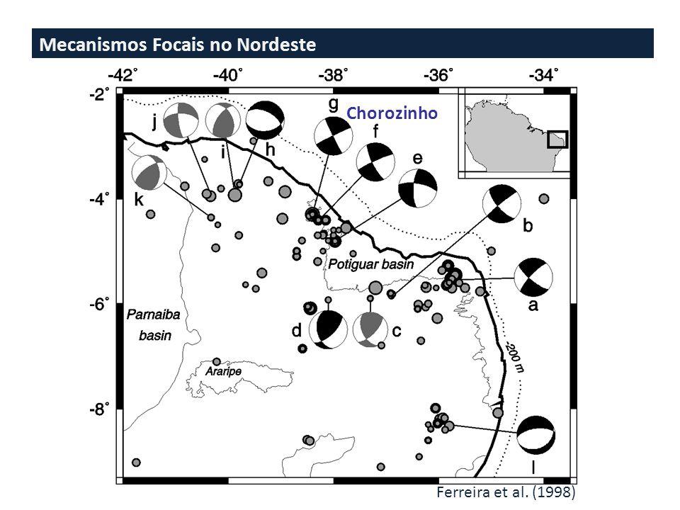 Mecanismos Focais no Nordeste Ferreira et al. (1998) Chorozinho