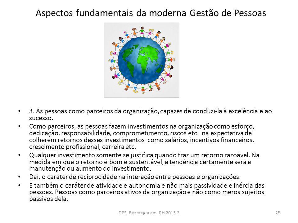 Aspectos fundamentais da moderna Gestão de Pessoas 3.