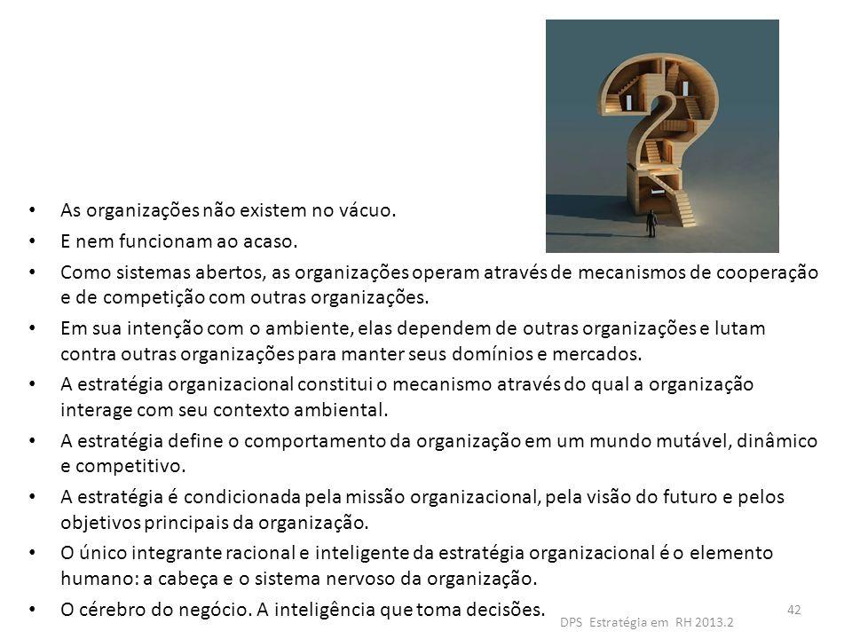 As organizações não existem no vácuo. E nem funcionam ao acaso. Como sistemas abertos, as organizações operam através de mecanismos de cooperação e de