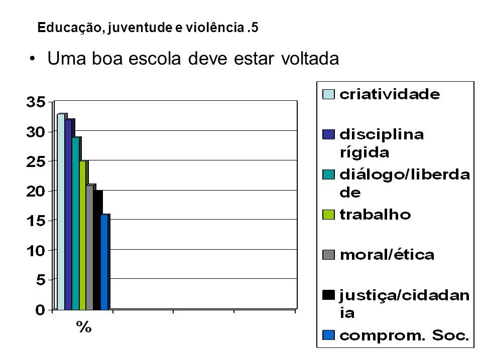 Educação, juventude e violência.5 Uma boa escola deve estar voltada